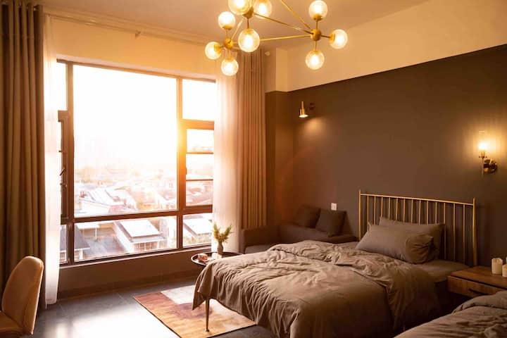 西双版纳星和宿民宿 精致复古03双床房 标准间 氛围间