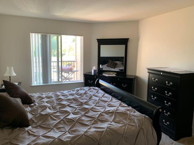 Master Bedroom with a private en suite bath