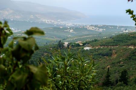 Top of the Cretan Hill Villa with gorgeous View - Vouves - Villa