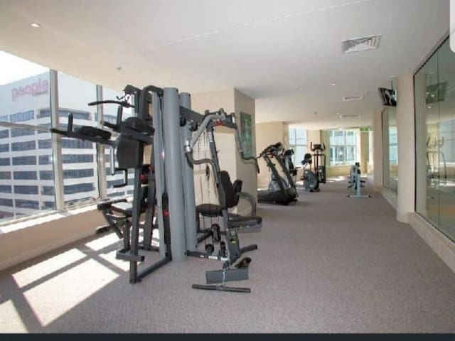 Gym Facilities available on the 8th floor. All Free to guests