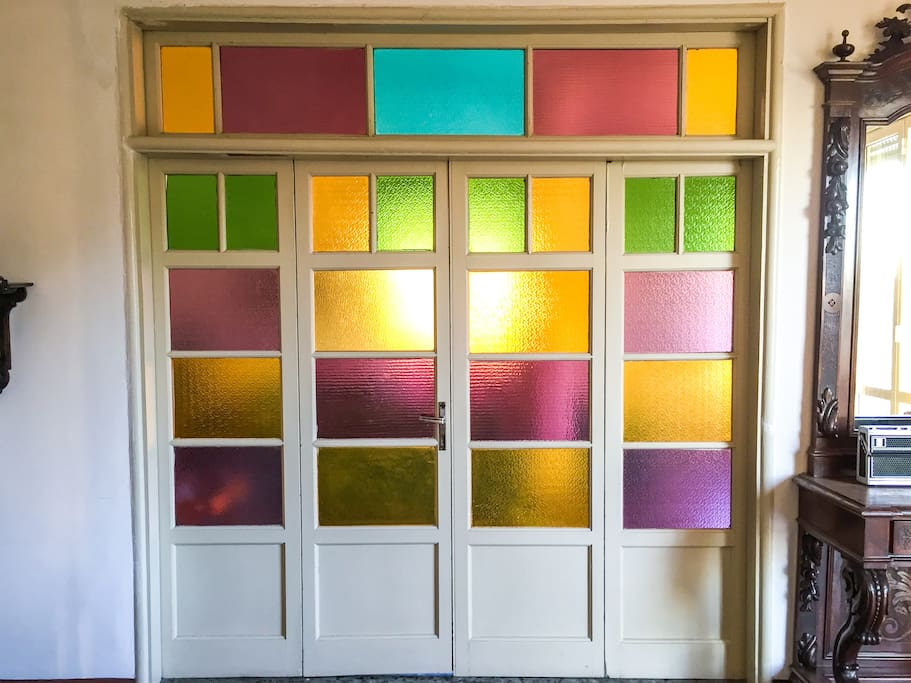 Colorful Door Living Room