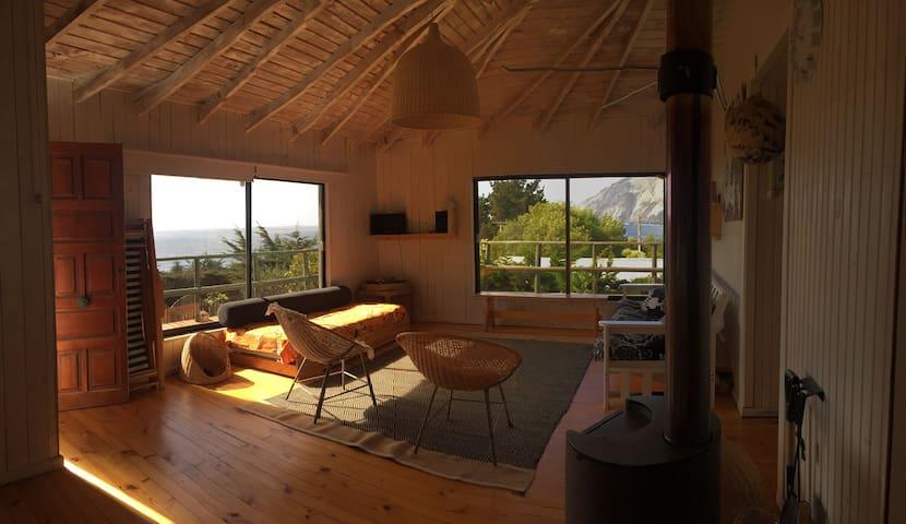 Luminosa y acogedora cabaña en caleta Quintay - Quintay - Cabin