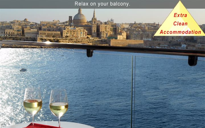 6* Your Sea Views - 3 bedroom Apartment Malta