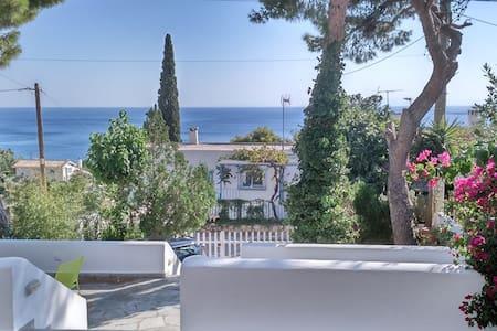 Minimal villa panoramic seaview - Agios Dimitrios