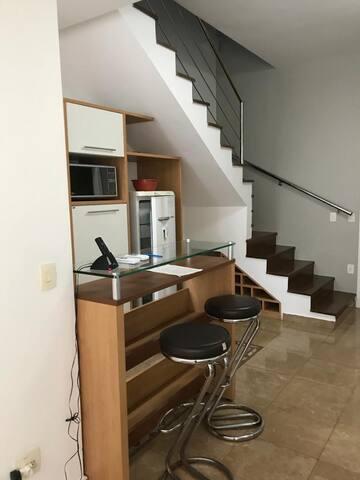 Loft em Santos - Coração do Gonzaga - Duplex