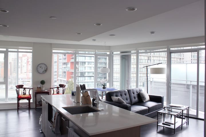 Large Premium Suite in Yaletown w/Parking & Patio