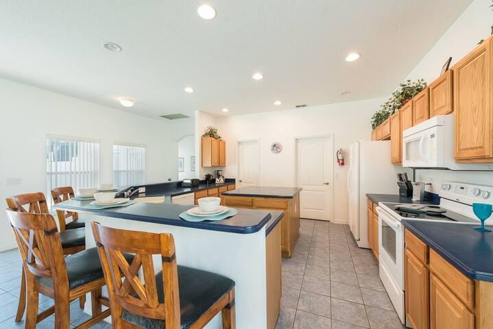 Oversized open plan kitchen