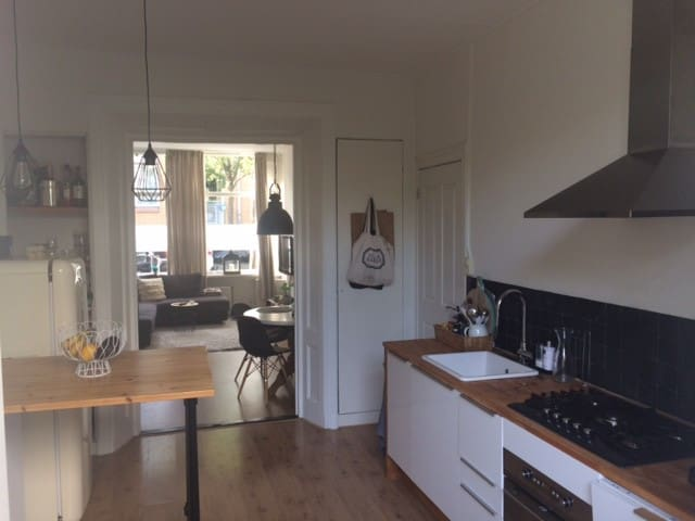 Entire apartment + garden in Utrecht City Center