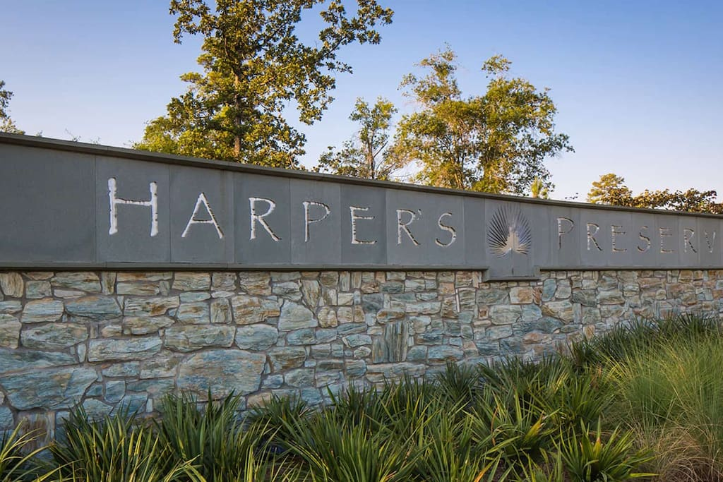 In the exclusive Harper's Preserve gated community.