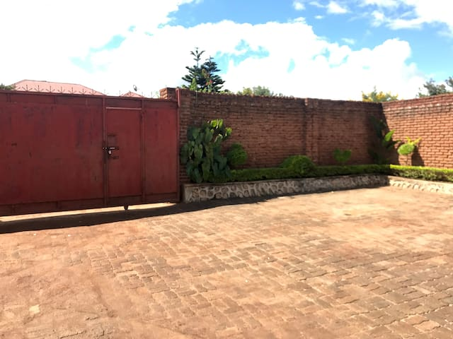 Spacious parking in private lot with gate