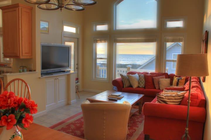 Sunnyside Up - pool & private beach access - Surf City - Şehir evi