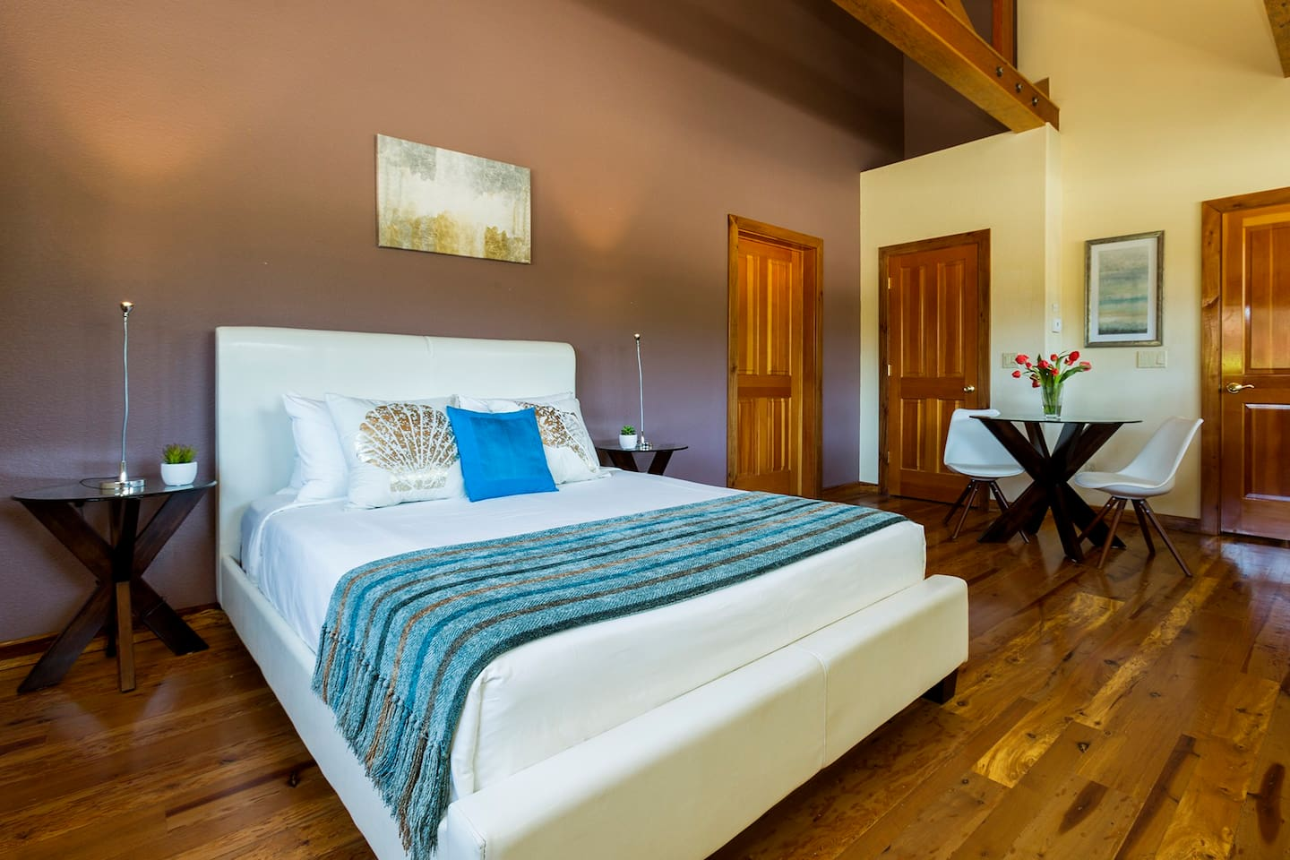 Enjoy the Madrone Room's spacious accommodations.