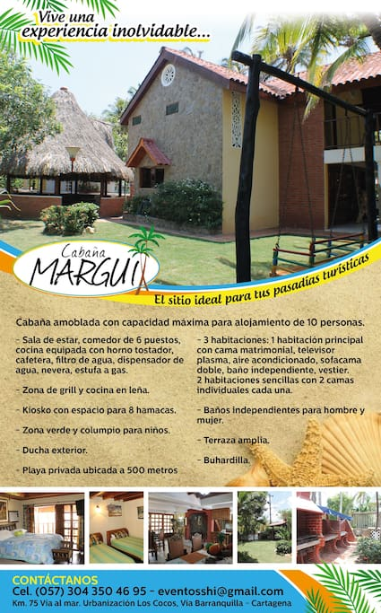 Flyer Cabaña Margui