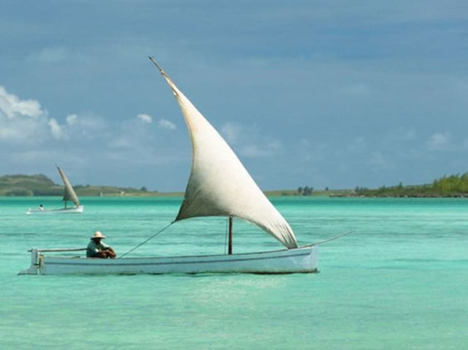 Beautiful lagoon of Rodrigues