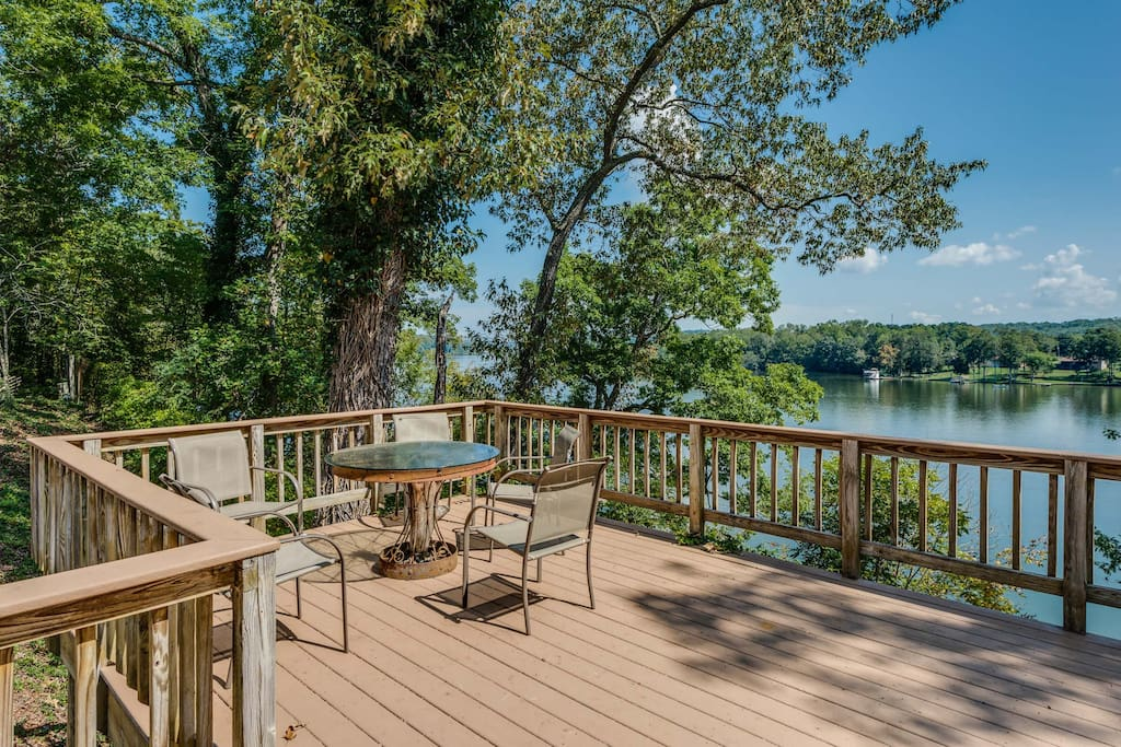 Enjoy the views from the back deck.