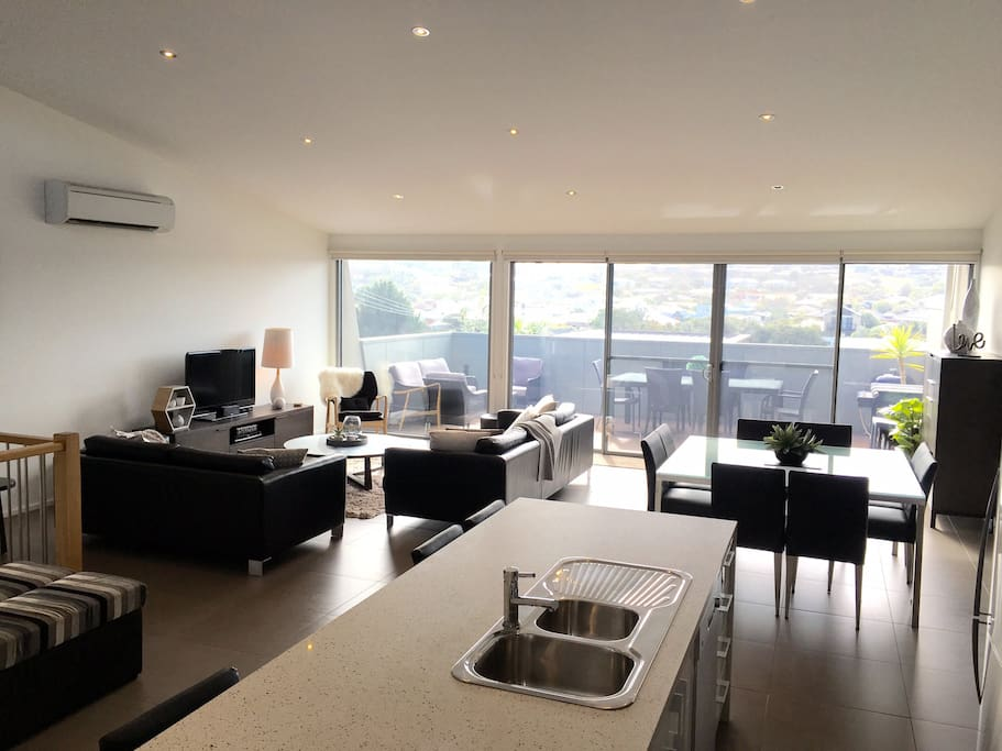 Spacious open plan living/dining and meals area