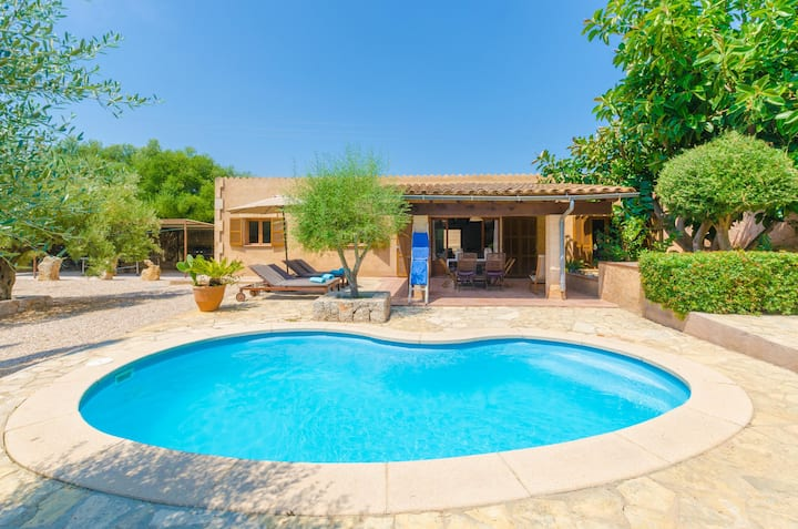 FINCA SA PLANA - Villa with private pool in Son Servera. Free WiFi