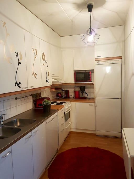 kitchen with dishwasher and other appliances.