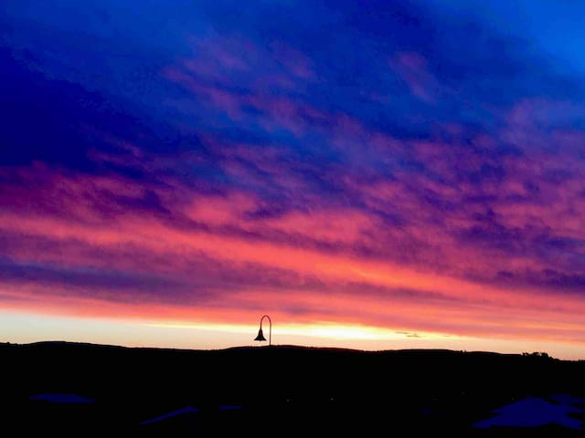 Amazing sun set last Saturday night.