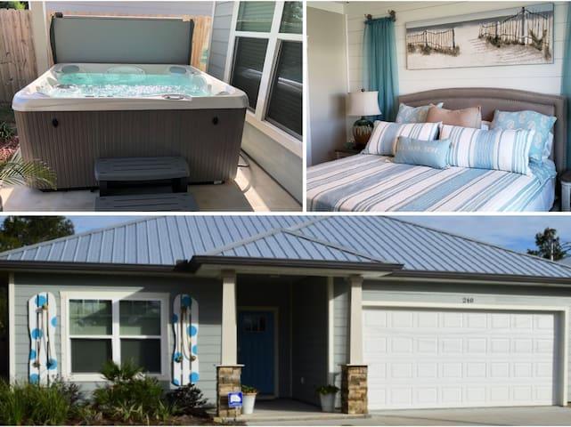 NEW SEA-RENITY 1.5 blocks to beach-golf cart-spa