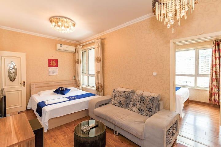 大连星海广场家庭舒适套房