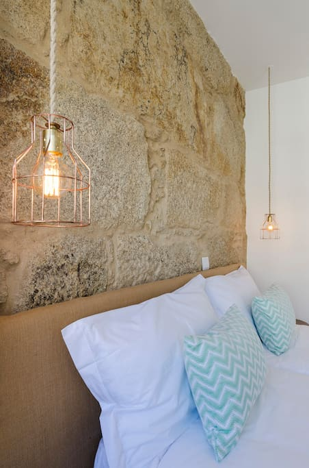 Wall and lamps...