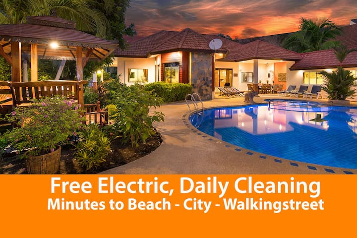 Pattaya Hill, FREE electric, Minutes to City/Beach
