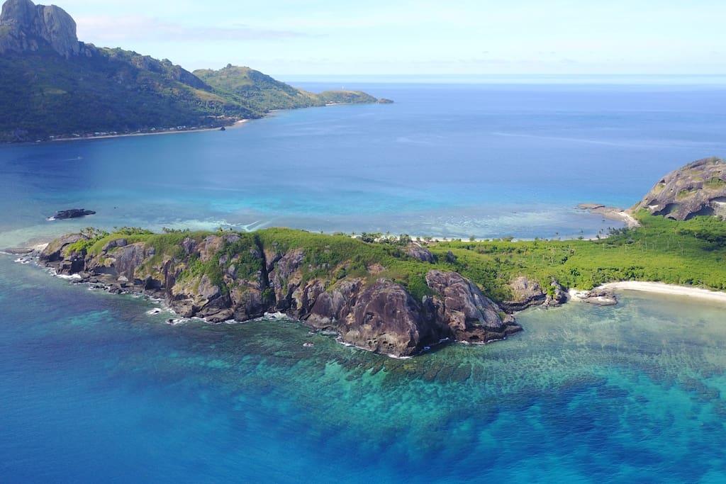 Kuata Island with Wayaseywa in the distance. Join us!