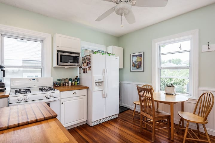 Sunny kitchen with dishwasher and plenty of counter space