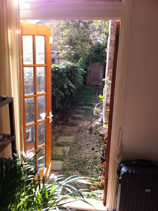 French doors leading into the garden :)