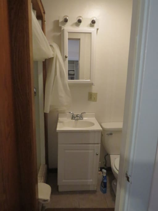 Private bath with shower stall