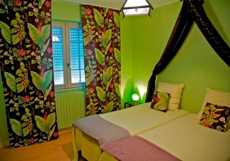 chambre vert asiatique  亚洲绿色客房
