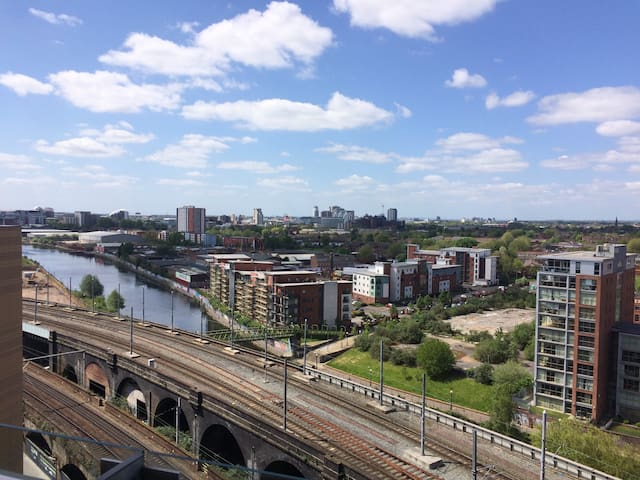 Superb Castlefield flat with a view