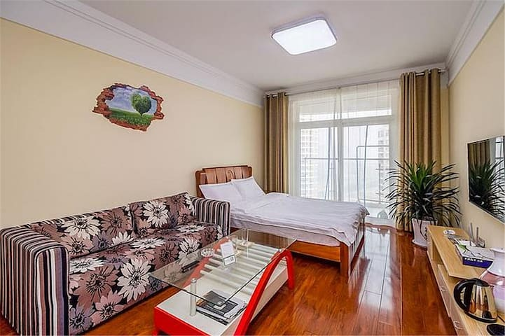 日照海花度假公寓(蔚蓝海景两居室)