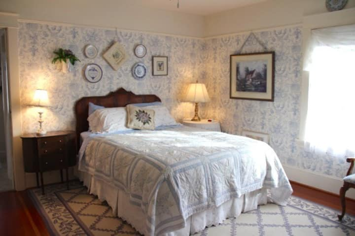 French Toile Room ~ Briar Rose Inn ~ Vancouver USA