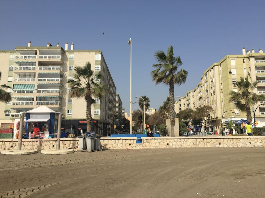Strand vor der Wohnung