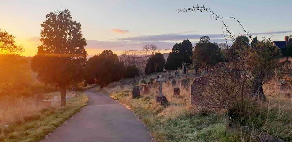 Beautiful dusk walks to be had - just a stones throw from the house- this one takes you to a sublime hiking route called 'The Heavens' - with gorgeous views out to Rodborough Common
