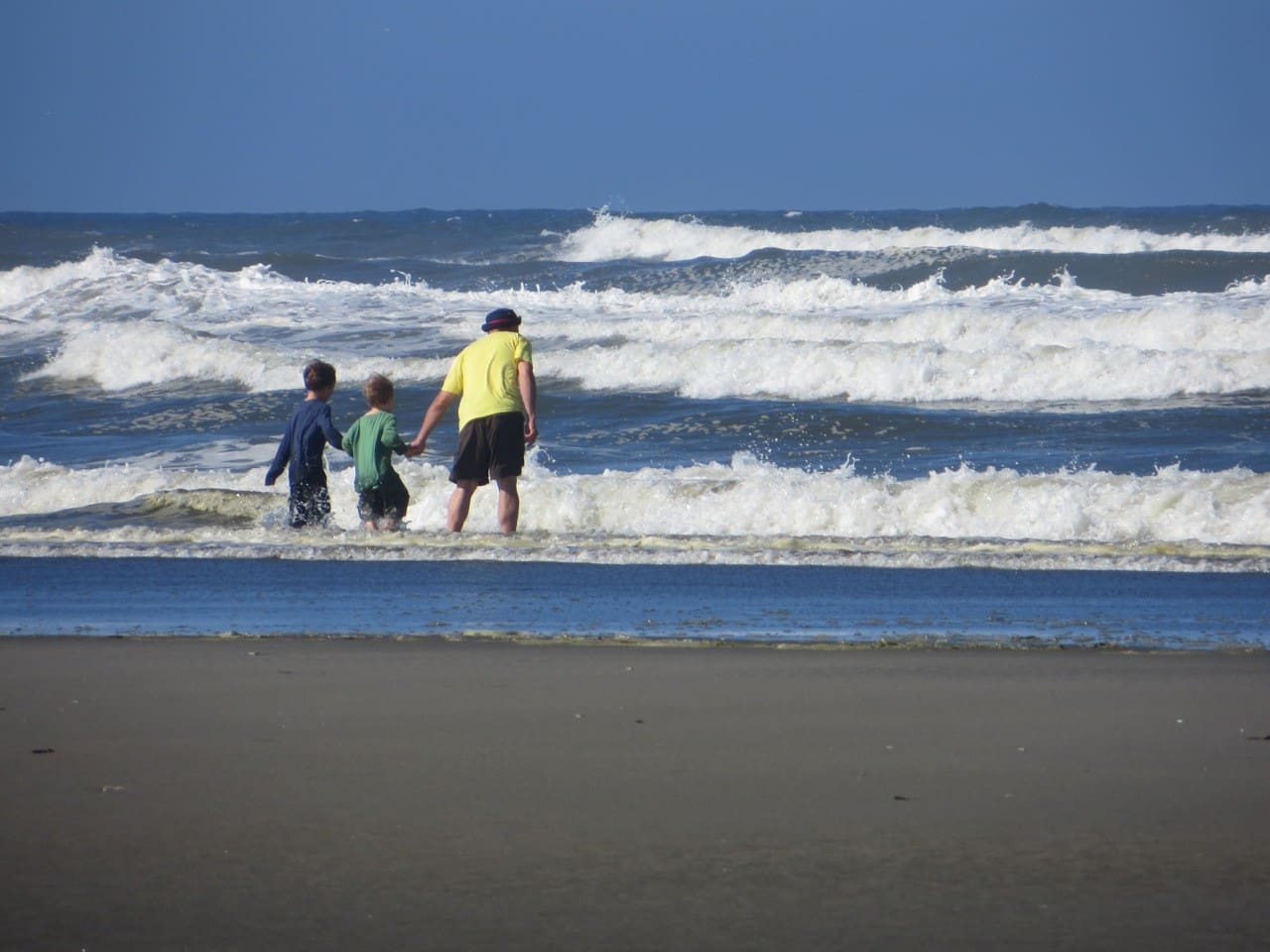 Playing in the waves is one of my favorite things to do!
