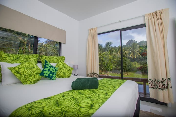 Views from your bed every morning  through the sliding door to set the mood.