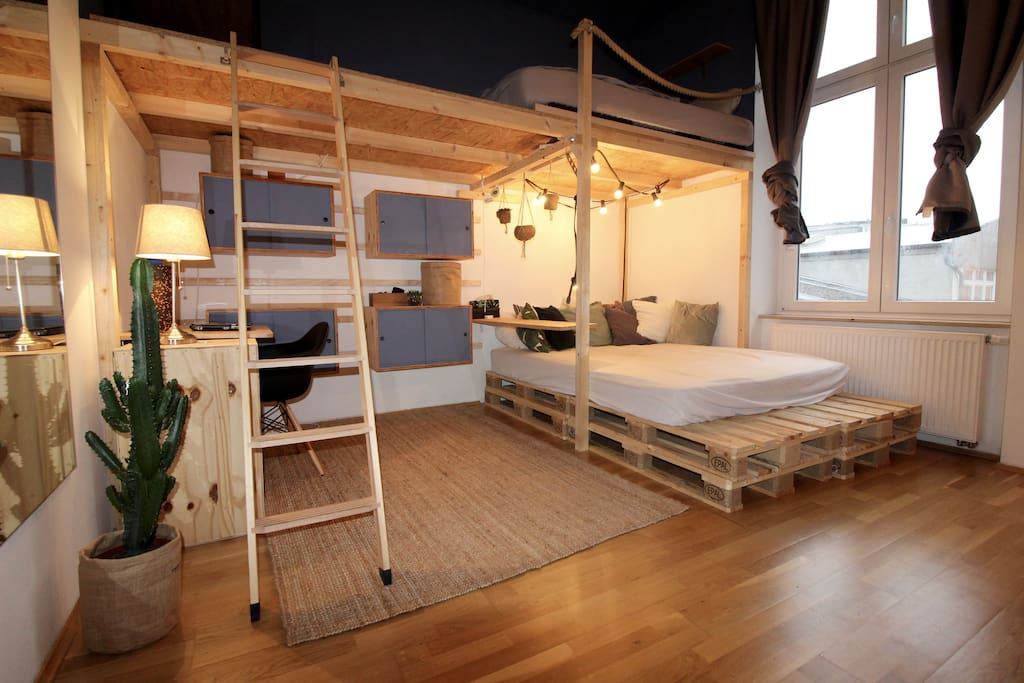 In the first bedroom, you´ll have a bunk bed and a double bed for up to 4 persons.
