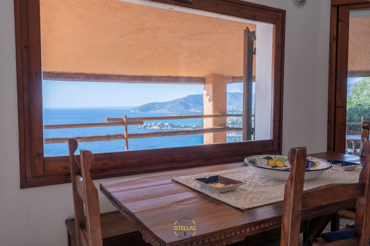 Villa Bellatrix, south Sardinia-sea' view