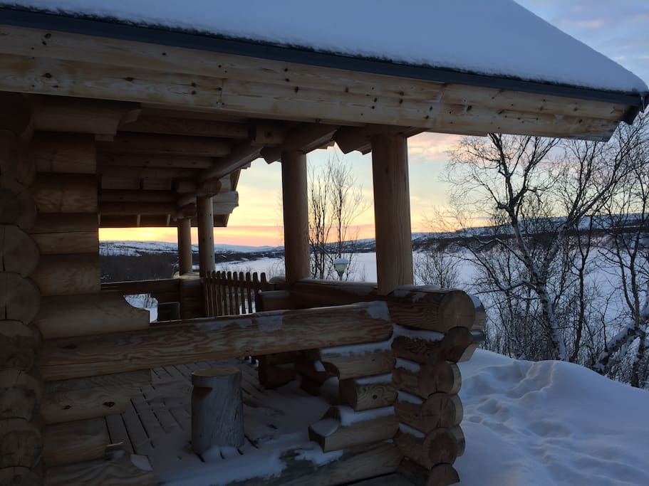 The cabin is close to the Teno river