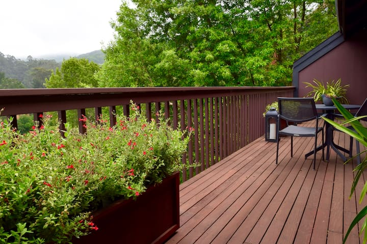 On the back deck