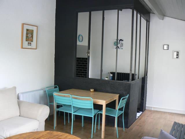 Appartemt avec terrasse vue/Loire - Bouzillé - Apartemen