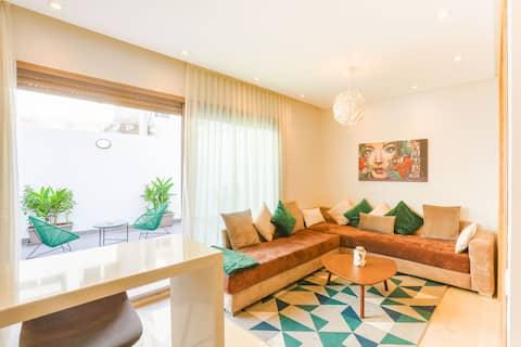 16. Radieux appartement + terrasse. Proche océan