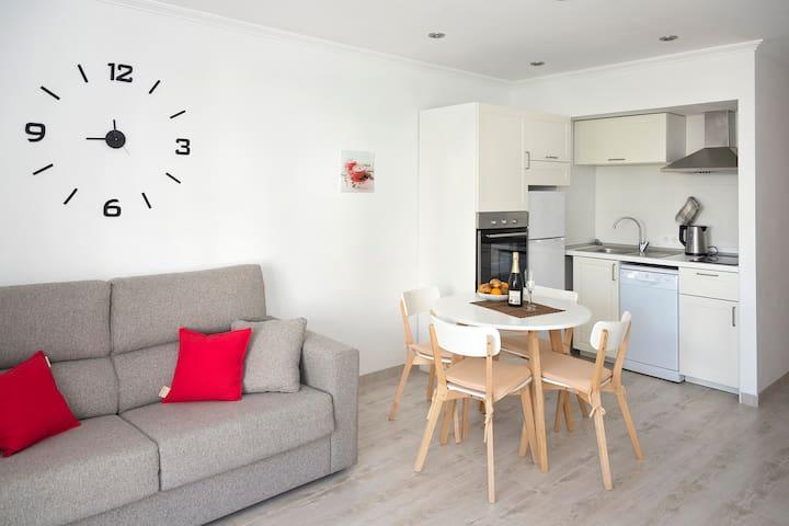 Apartamento entero luminoso a metros de la playa