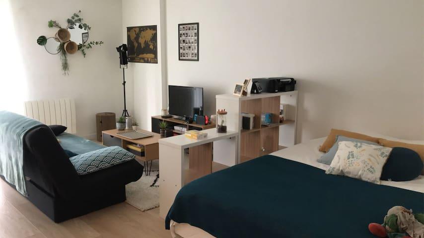 Appartement avec jardin dans une résidence privée