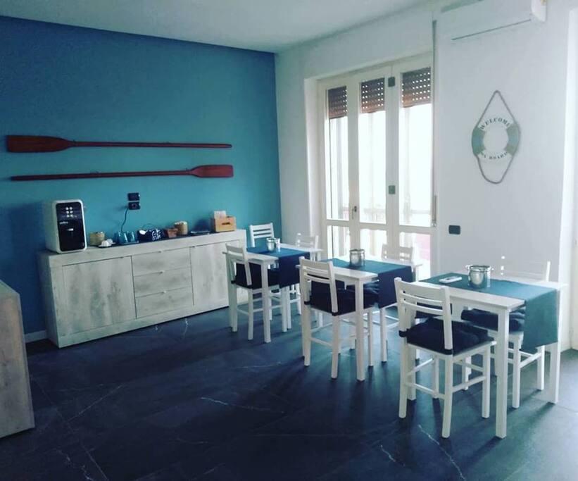 La sala colazioni - breakfast room