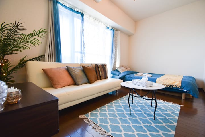 A fancy room for 3ppl in Nippori area☆Free Wifi♪ - Bunkyō-ku - Lejlighed