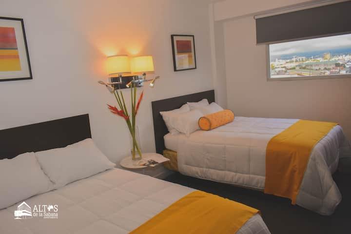 Habitación con vistas a la ciudad - 2 camas